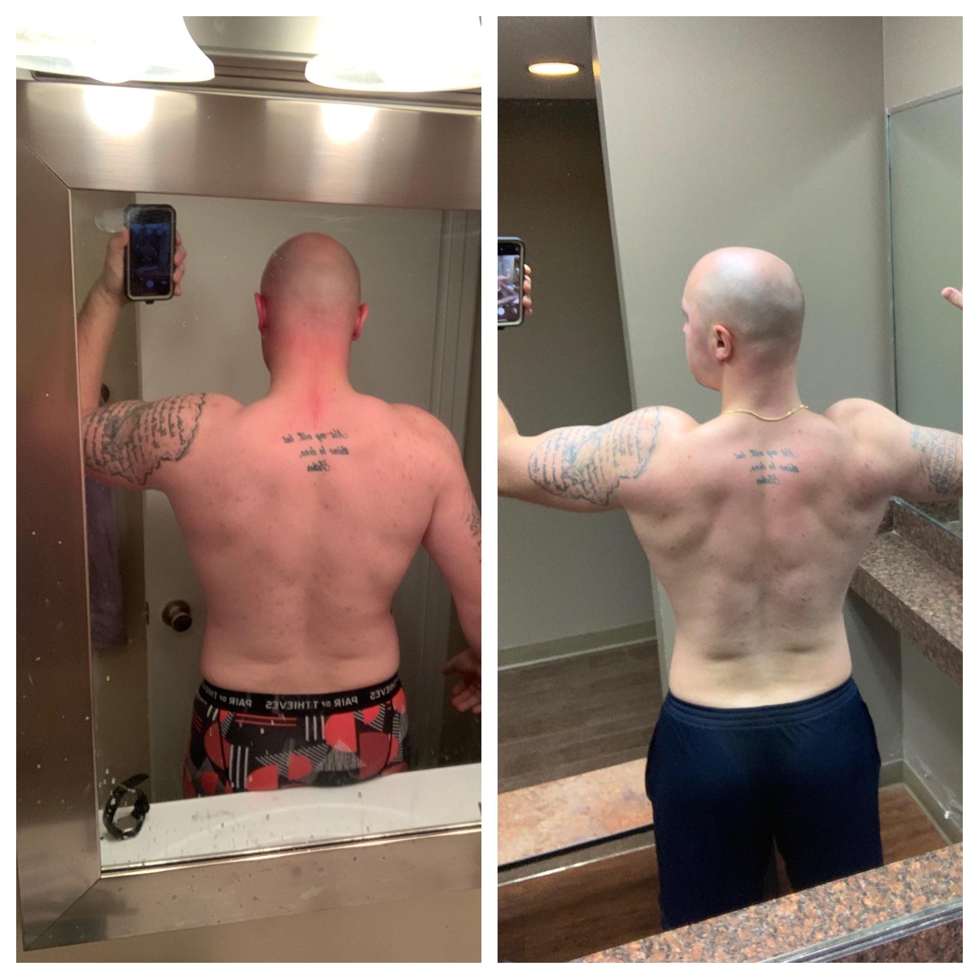 20 lbs Weight Loss 6 foot Male 225 lbs to 205 lbs