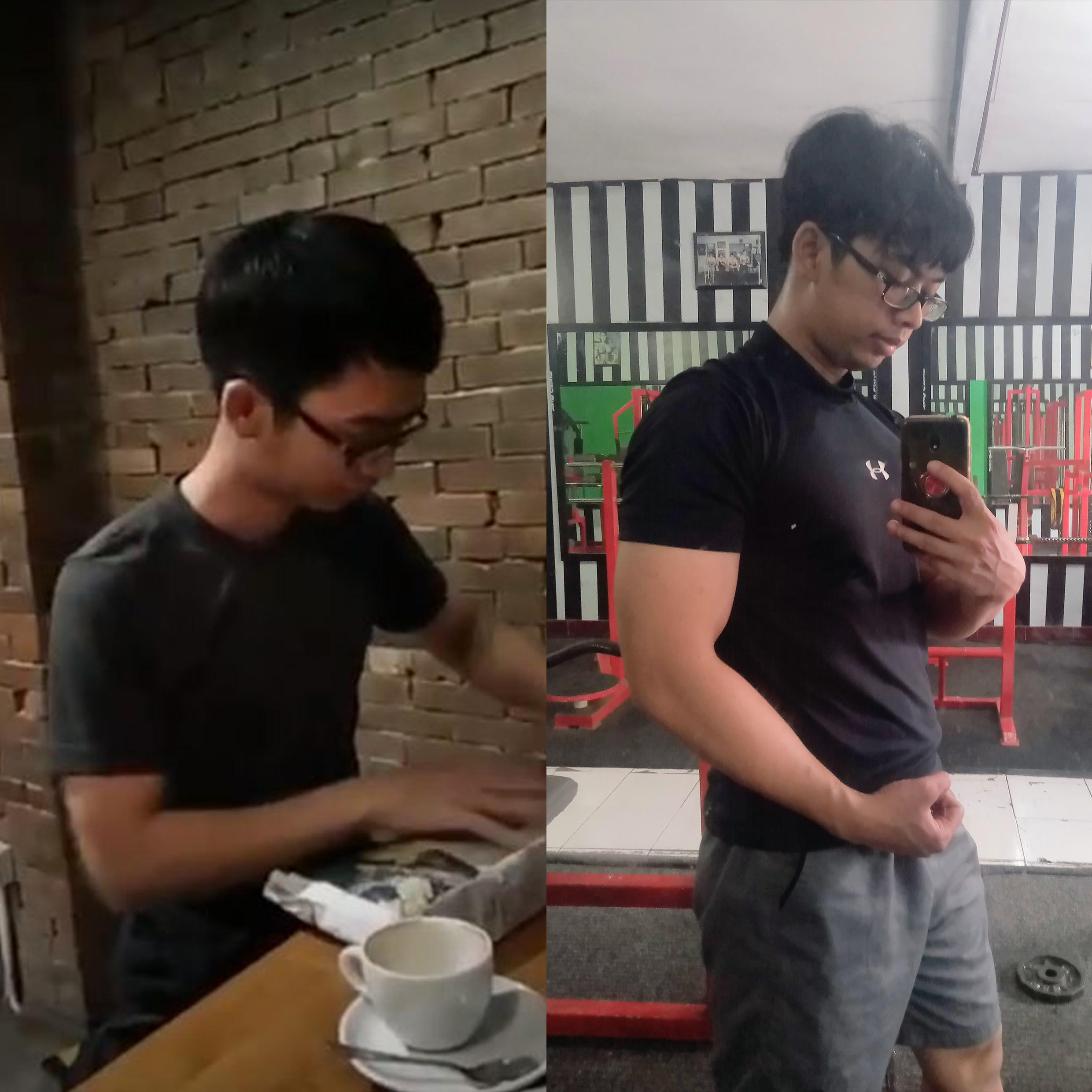 5 feet 5 Male 20 lbs Weight Gain Before and After 116 lbs to 136 lbs