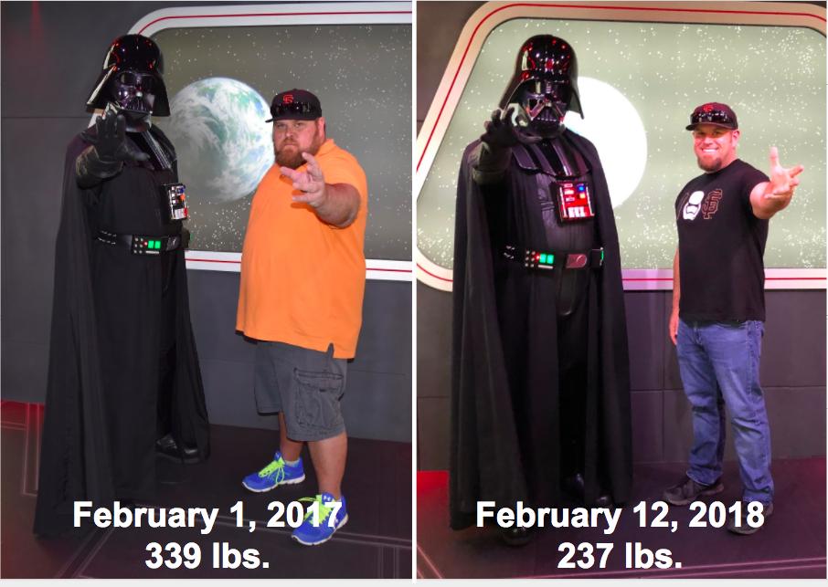 Progress Pics of 102 lbs Fat Loss 5 feet 11 Male 339 lbs to 237 lbs