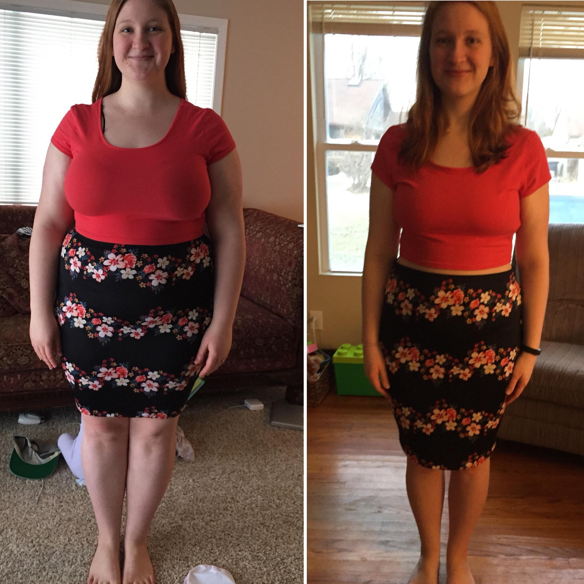 5 foot 6 Female Progress Pics of 72 lbs Fat Loss 238 lbs to 166 lbs