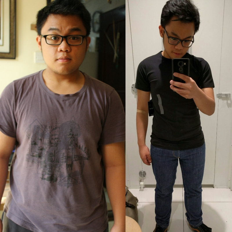 5'4 Male Before and After 48 lbs Fat Loss 191 lbs to 143 lbs