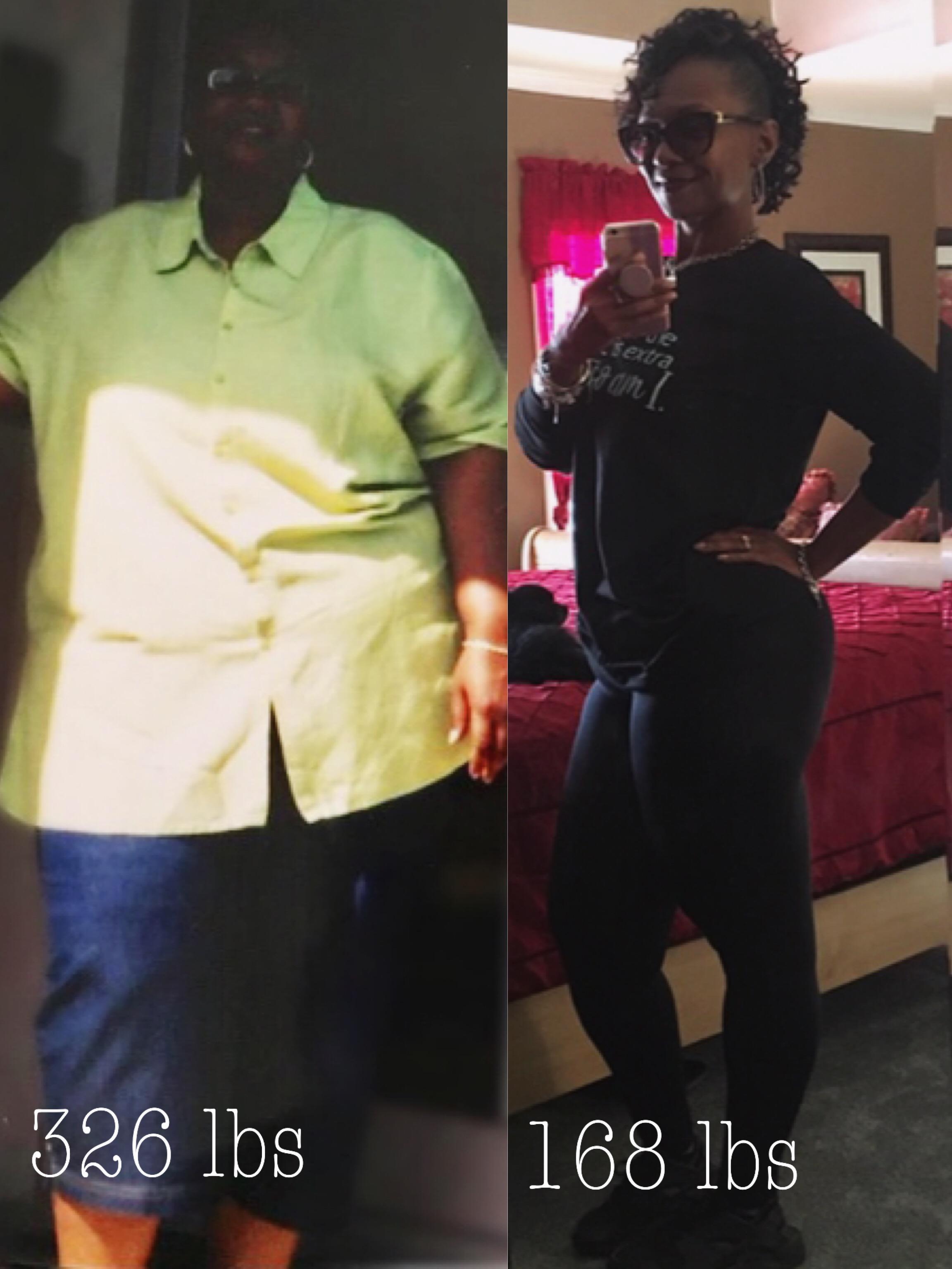 Progress Pics of 158 lbs Fat Loss 5'6 Female 326 lbs to 168 lbs