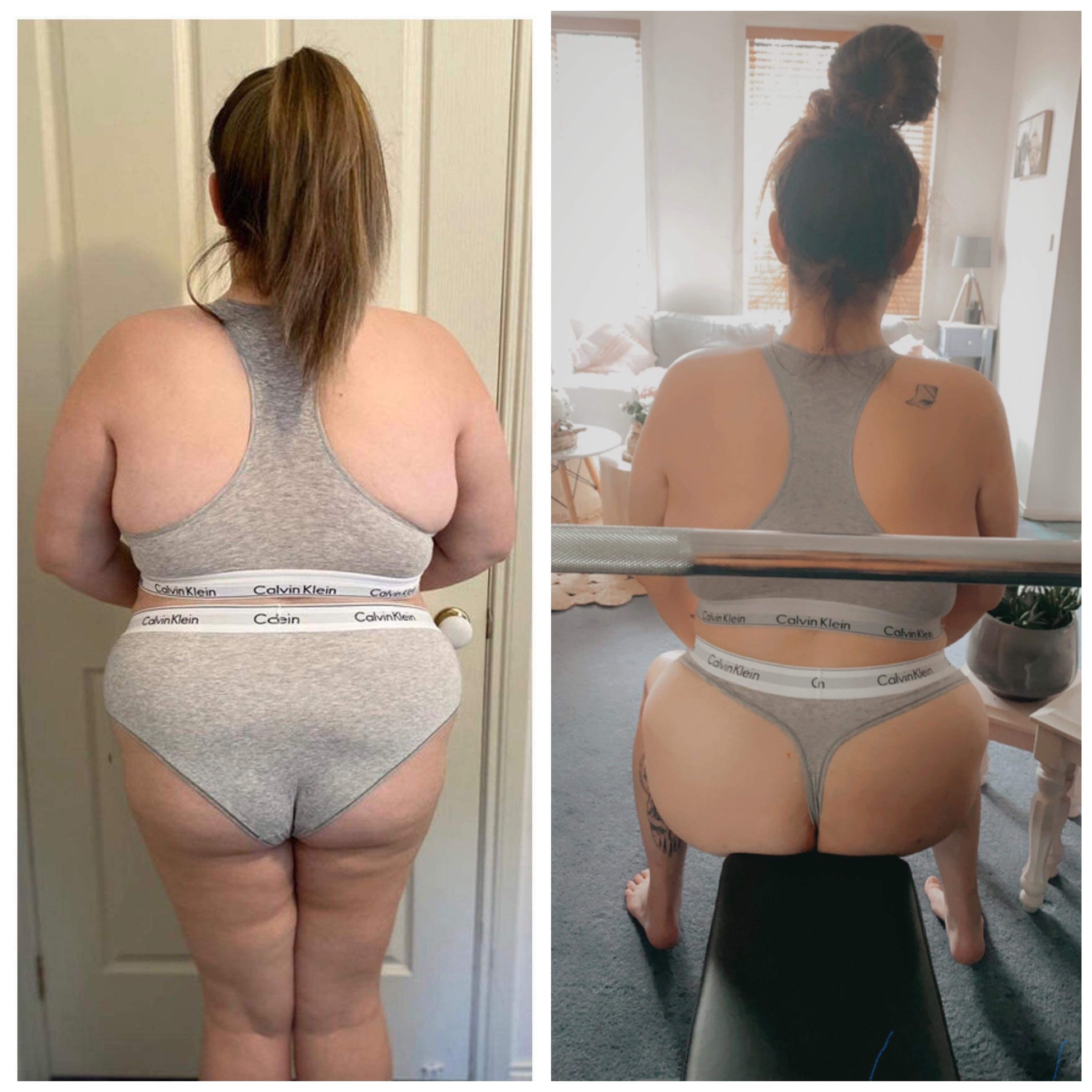 Progress Pics of 91 lbs Fat Loss 5 feet 9 Female 298 lbs to 207 lbs