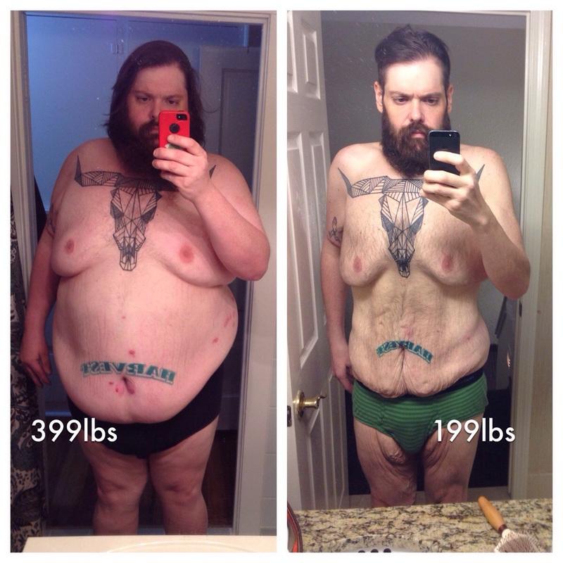 200 lbs Weight Loss 6 foot 2 Male 399 lbs to 199 lbs