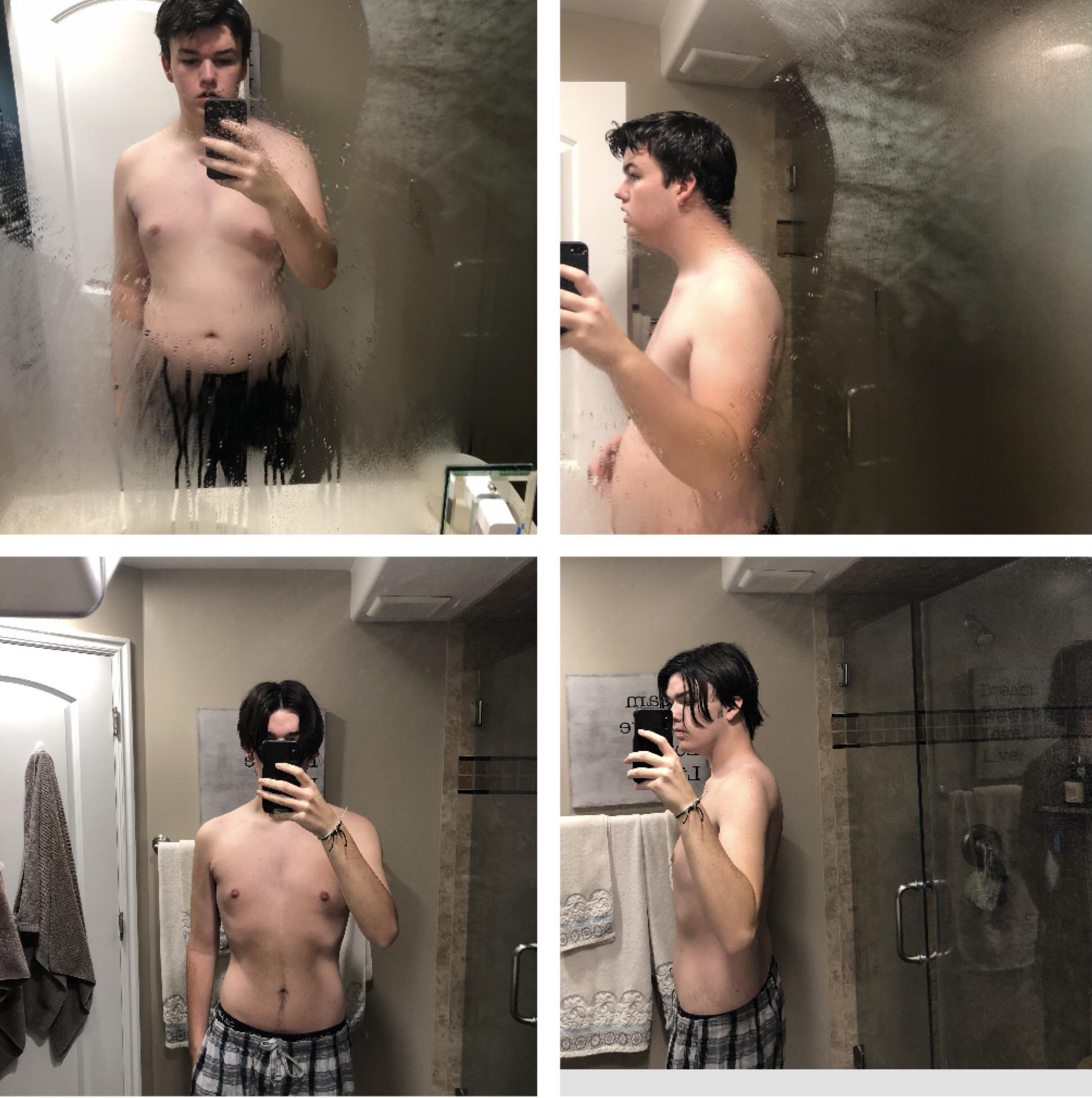 67 lbs Weight Loss Before and After 5 foot 10 Male 230 lbs to 163 lbs