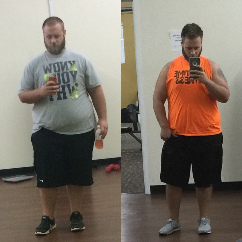 5 foot 11 Male Before and After 70 lbs Weight Loss 350 lbs to 280 lbs
