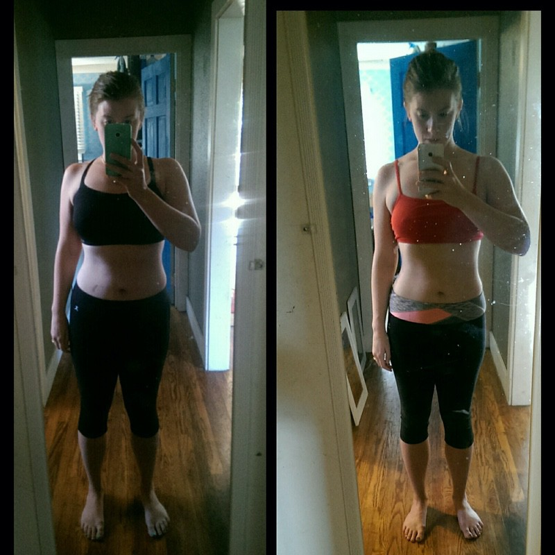 18 lbs Fat Loss Before and After 5'5 Female 160 lbs to 142 lbs