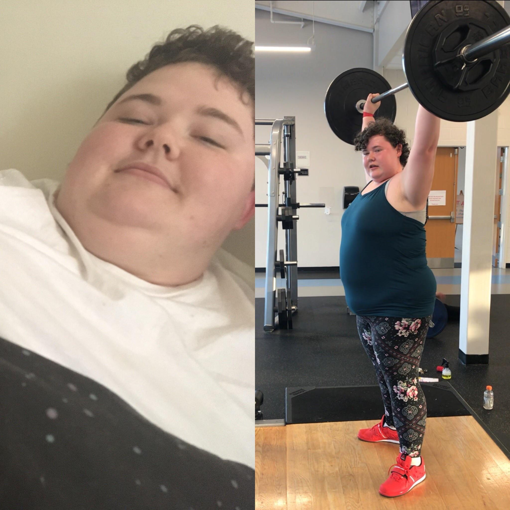 5 feet 9 Female Progress Pics of 85 lbs Weight Loss 415 lbs to 330 lbs