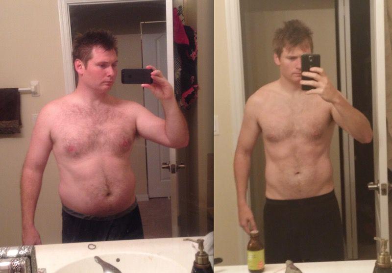 45 lbs Weight Loss 5 foot 8 Male 205 lbs to 160 lbs
