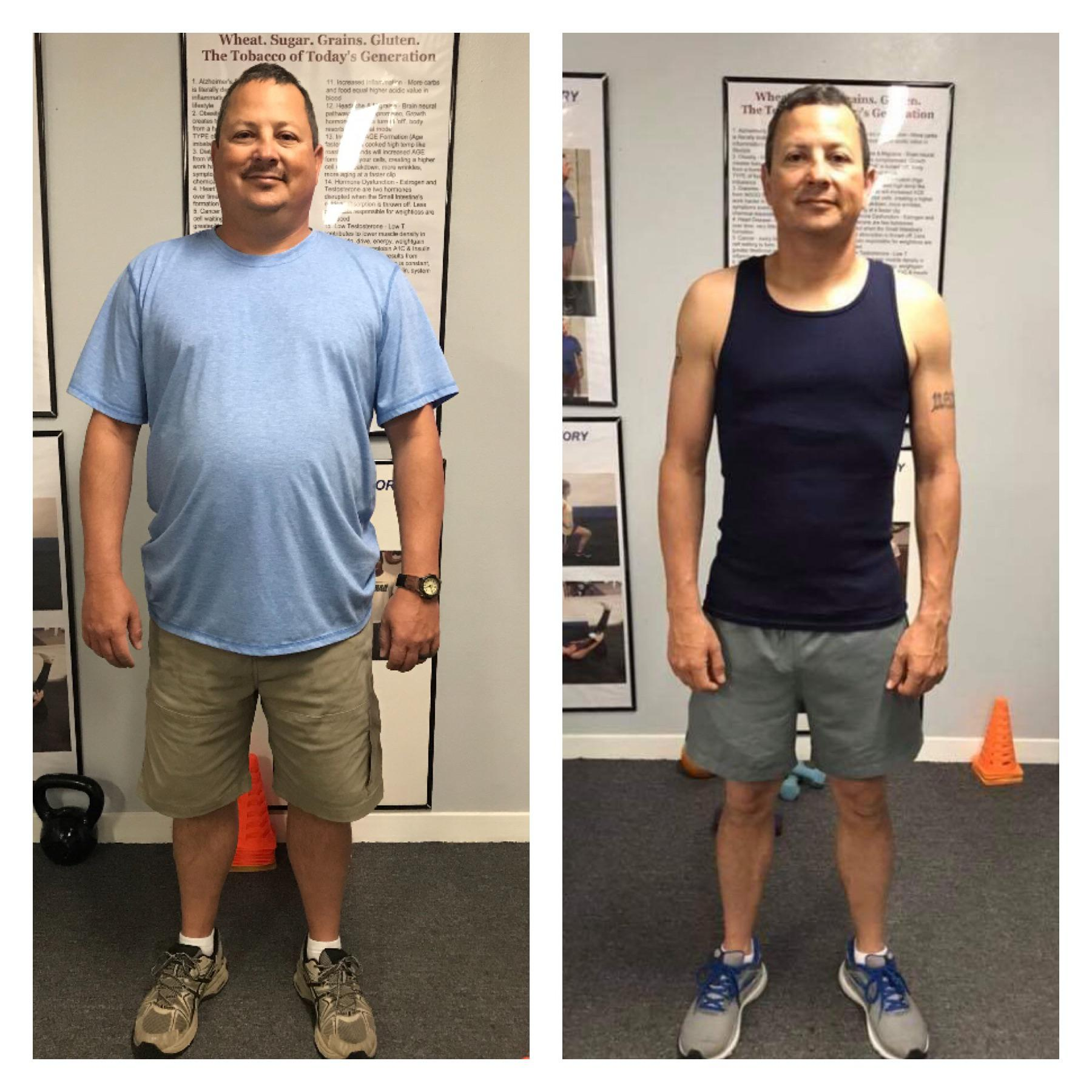 5 foot 7 Male Before and After 59 lbs Weight Loss 207 lbs to 148 lbs