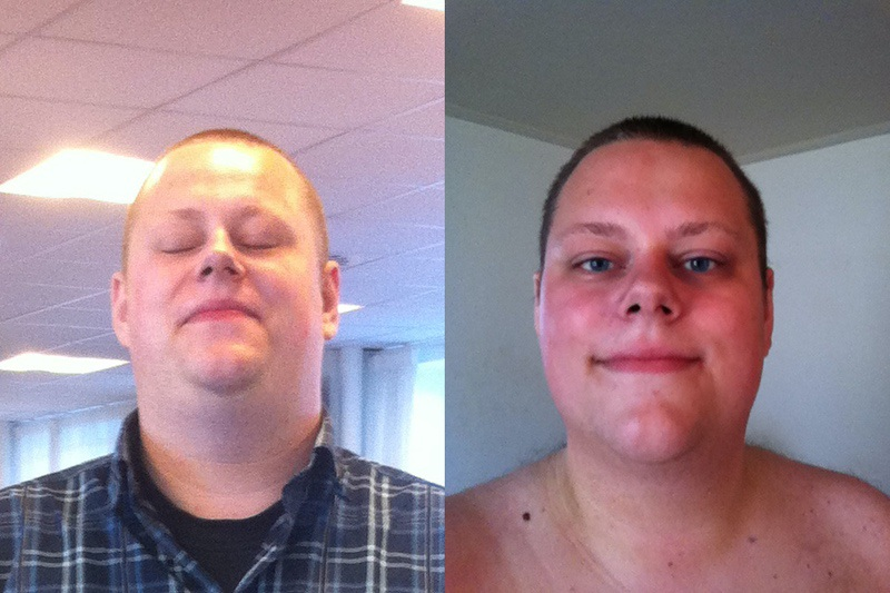 Before and After 37 lbs Weight Loss 6 foot 3 Male 369 lbs to 332 lbs