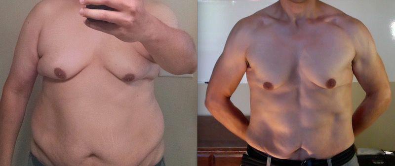 6'2 Male Progress Pics of 90 lbs Weight Loss 290 lbs to 200 lbs