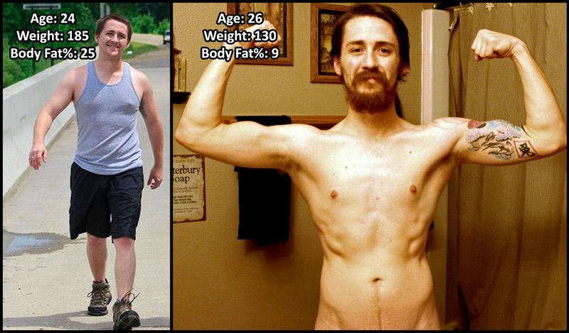 5 feet 7 Male Progress Pics of 55 lbs Weight Loss 185 lbs to 130 lbs
