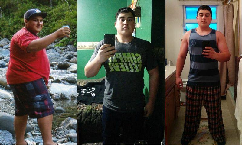 Progress Pics of 55 lbs Weight Loss 5 foot Male 250 lbs to 195 lbs