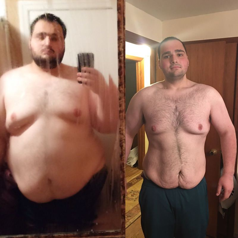 6'6 Male 204 lbs Fat Loss Before and After 540 lbs to 336 lbs