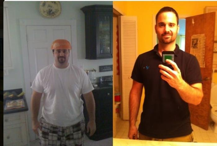 5 foot 10 Male 100 lbs Fat Loss Before and After 269 lbs to 169 lbs