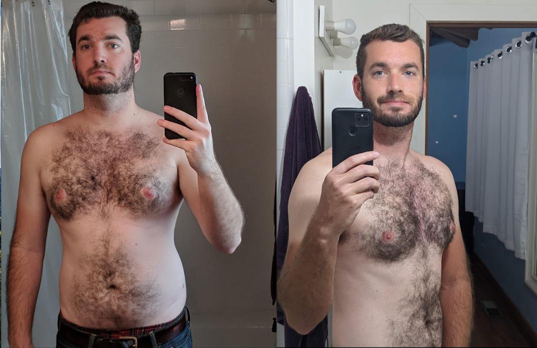 40 lbs Weight Loss 5'11 Male 200 lbs to 160 lbs