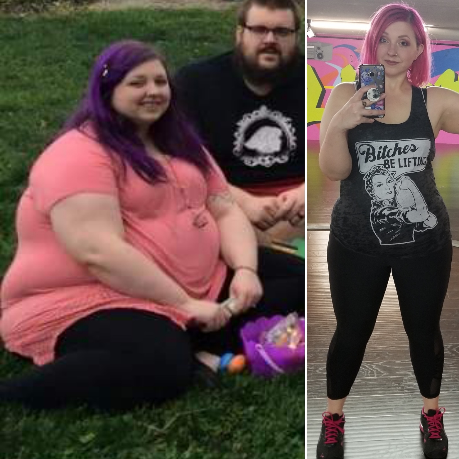 135 lbs Weight Loss 5'8 Female 350 lbs to 215 lbs