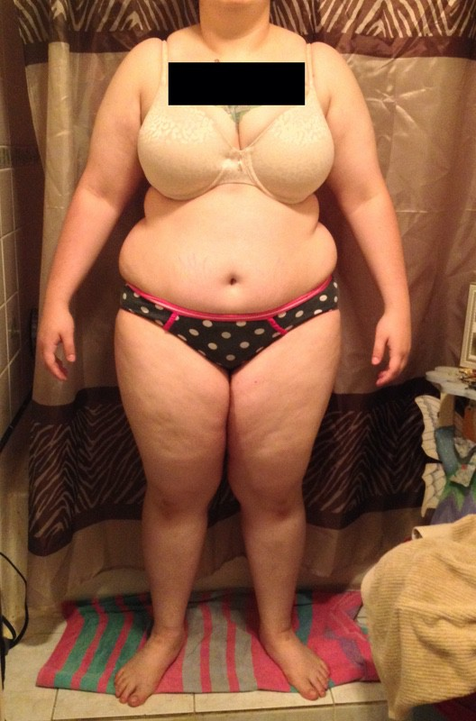 4 Pictures of a 231 lbs 5 foot 4 Female Weight Snapshot