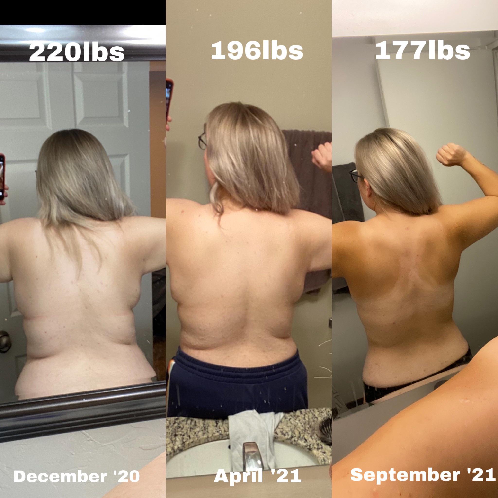 5'4 Female 113 lbs Fat Loss 290 lbs to 177 lbs