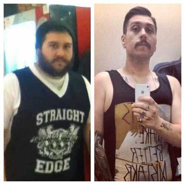 5 feet 8 Male Before and After 106 lbs Weight Loss 305 lbs to 199 lbs