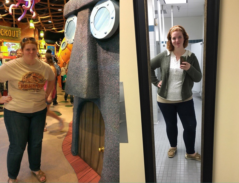 5 foot 10 Female 55 lbs Fat Loss Before and After 308 lbs to 253 lbs
