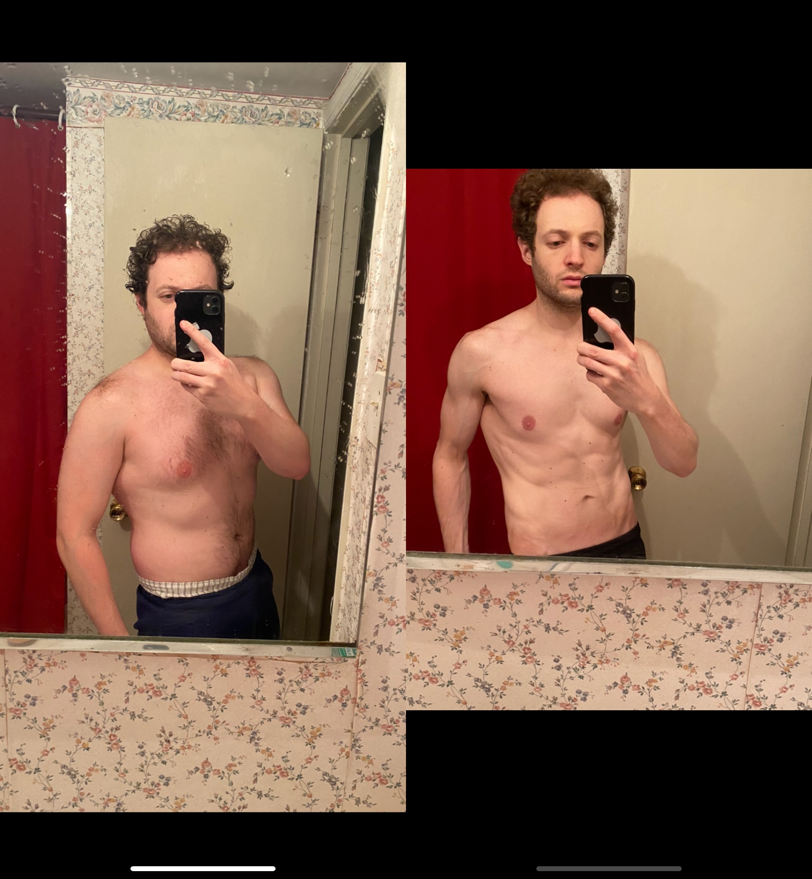 5 feet 8 Male Progress Pics of 44 lbs Weight Loss 192 lbs to 148 lbs