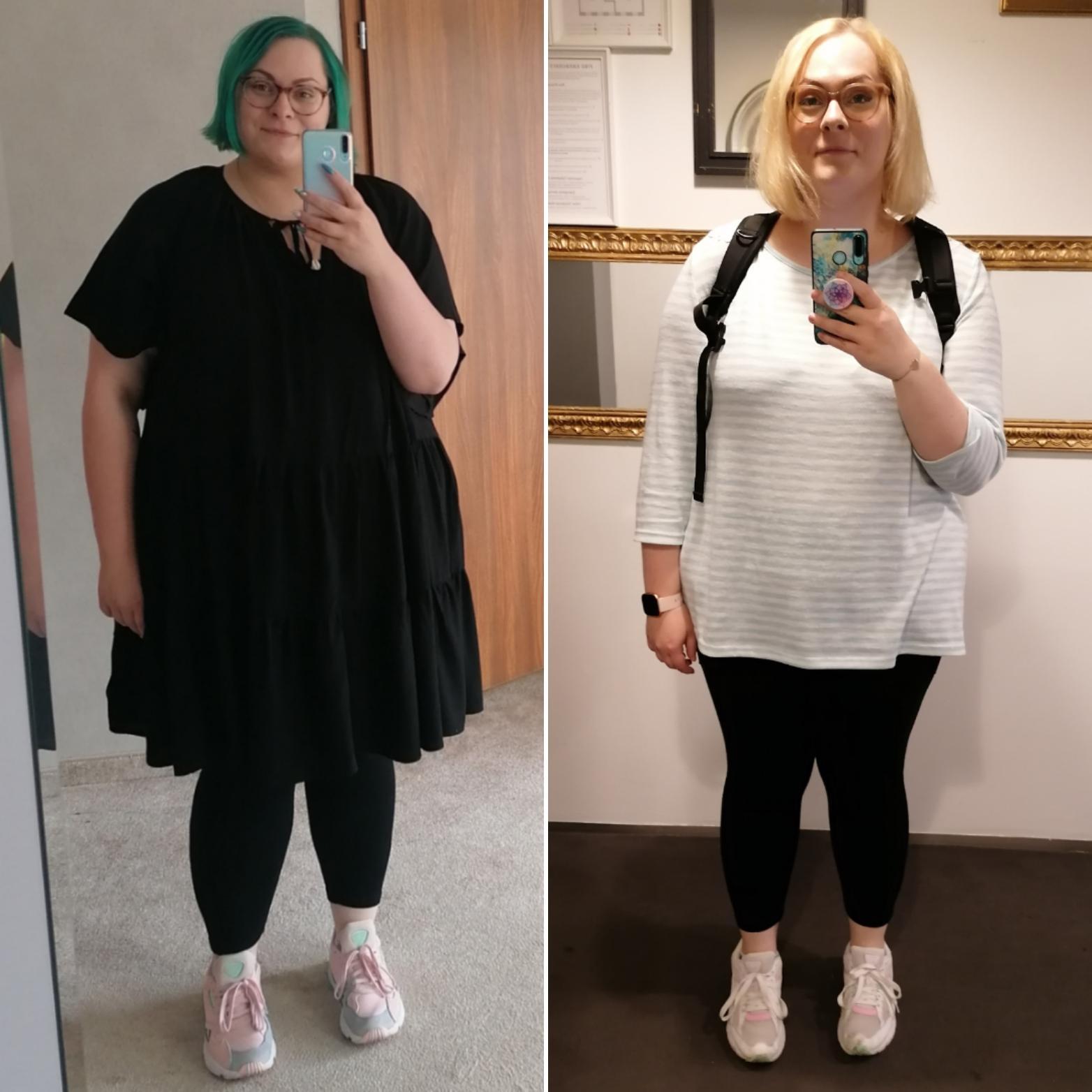 5 feet 8 Female 68 lbs Fat Loss 330 lbs to 262 lbs