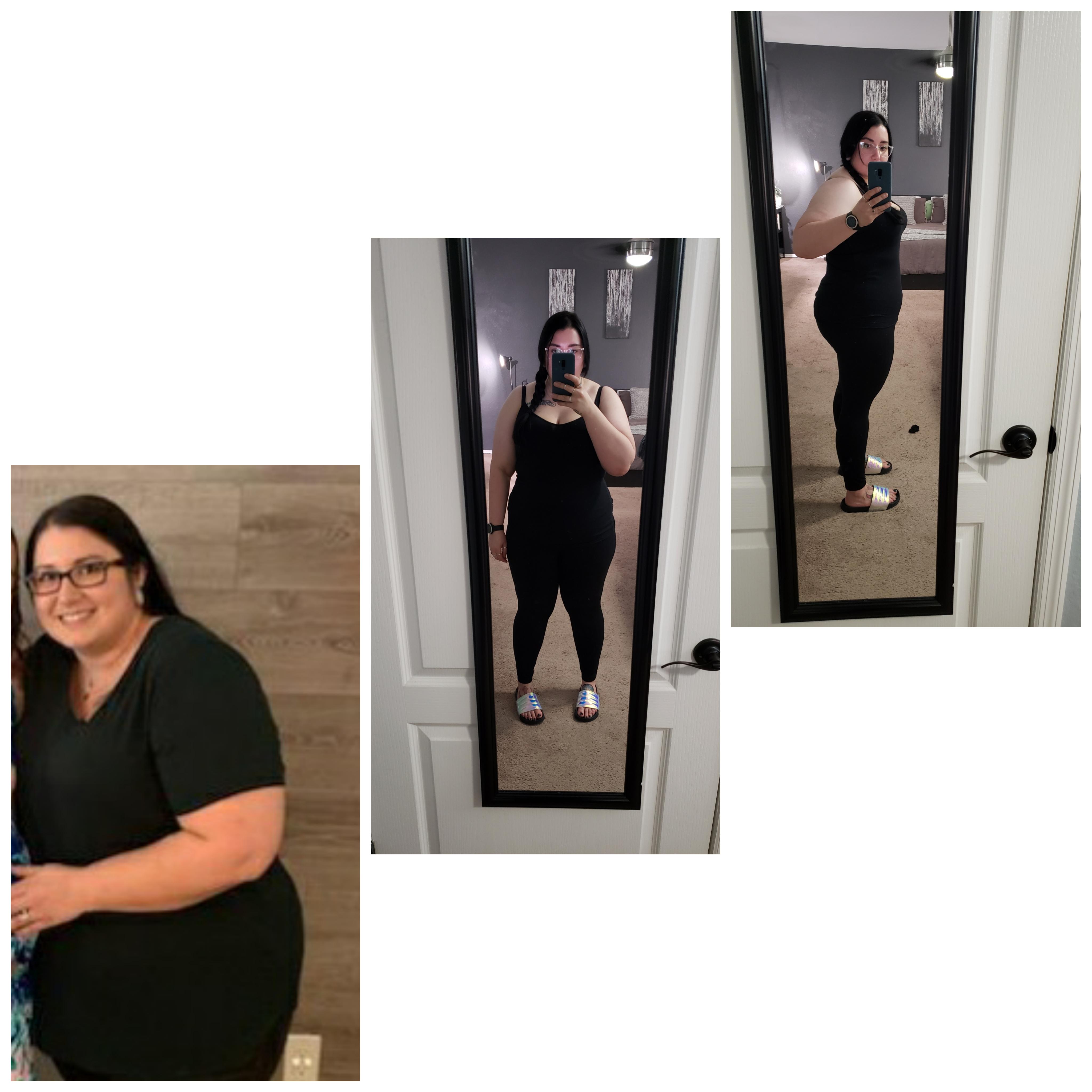 5'4 Female Progress Pics of 60 lbs Fat Loss 292 lbs to 232 lbs