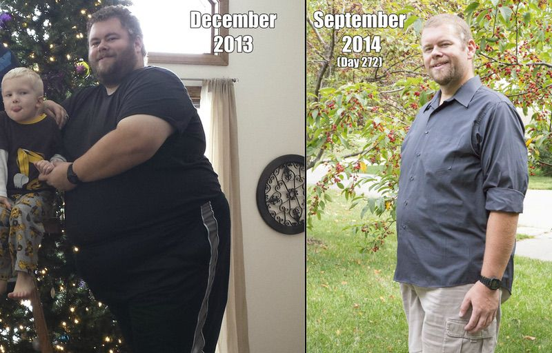 200 lbs Weight Loss Before and After 6 foot 2 Male 485 lbs to 285 lbs