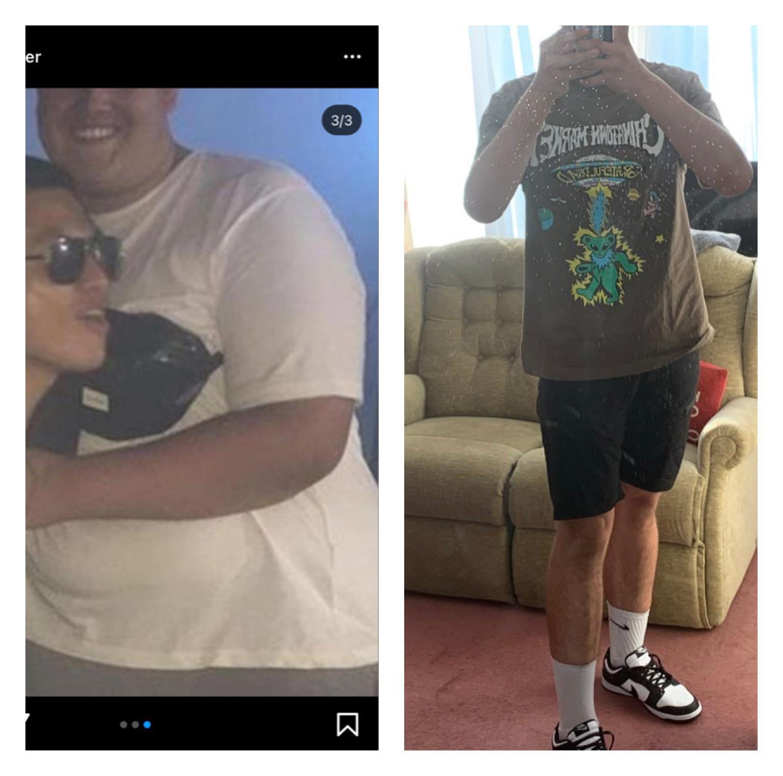Progress Pics of 182 lbs Weight Loss 6'3 Male 392 lbs to 210 lbs