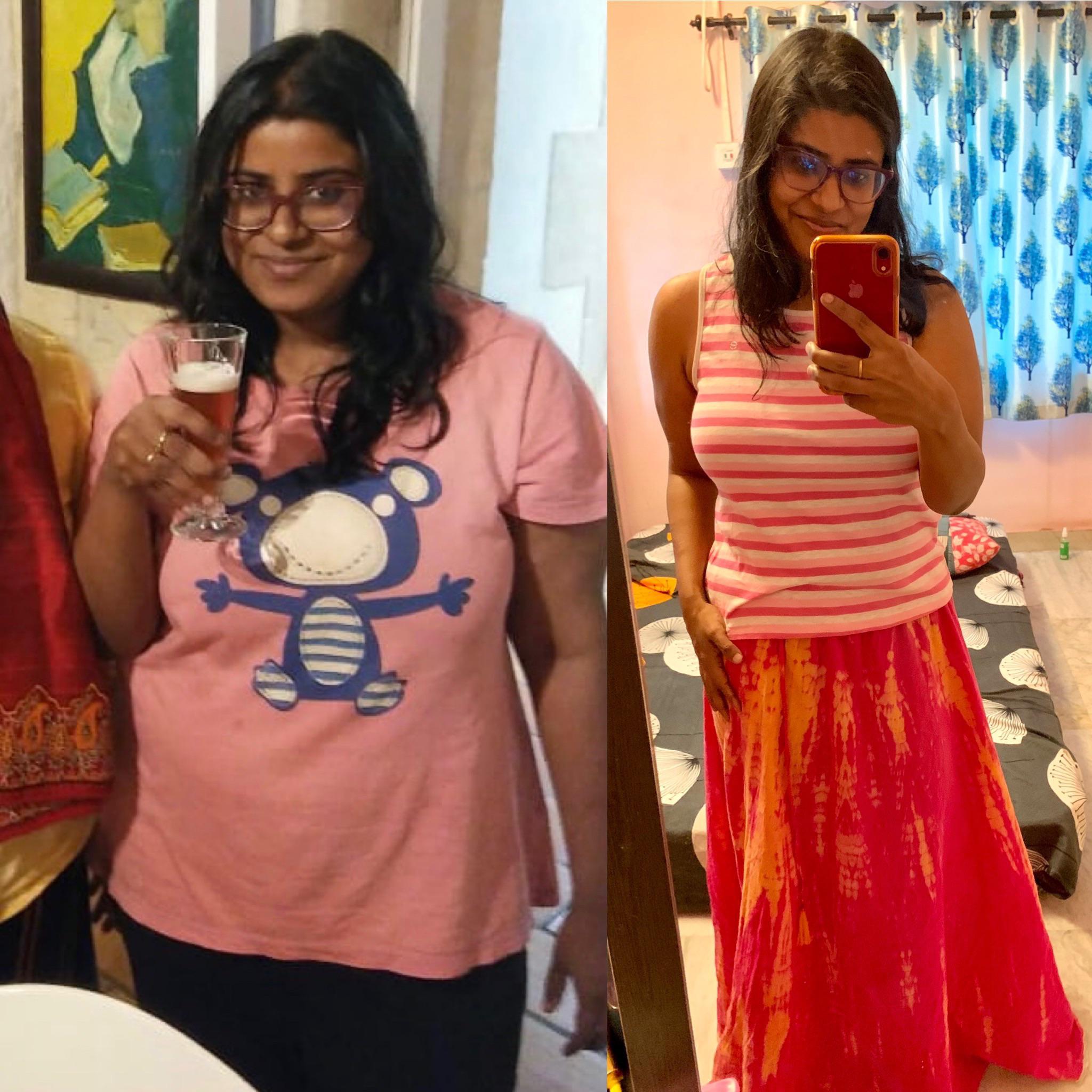 5 feet 3 Female Progress Pics of 62 lbs Weight Loss 205 lbs to 143 lbs