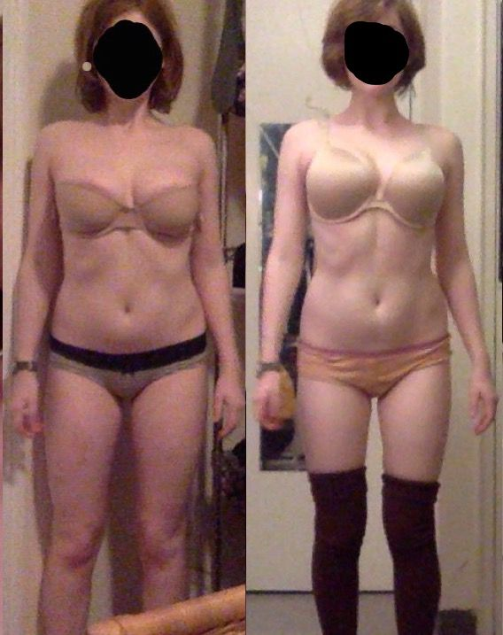Before and After 13 lbs Fat Loss 5 foot 6 Female 135 lbs to 122 lbs