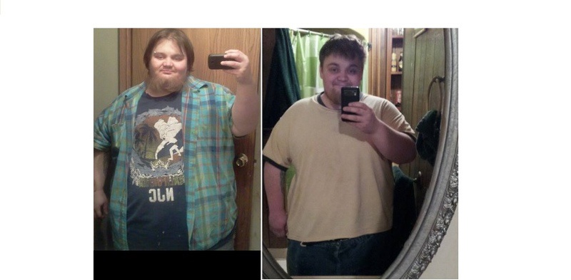 5'6 Male 80 lbs Weight Loss Before and After 429 lbs to 349 lbs