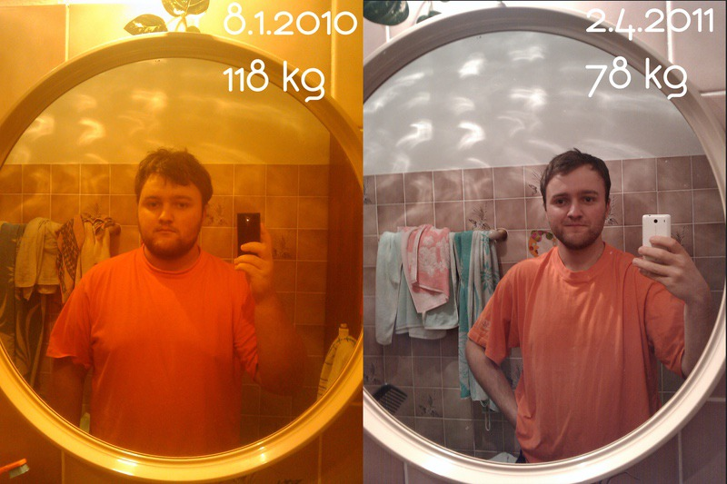 Before and After 89 lbs Fat Loss 5 feet 5 Male 260 lbs to 171 lbs