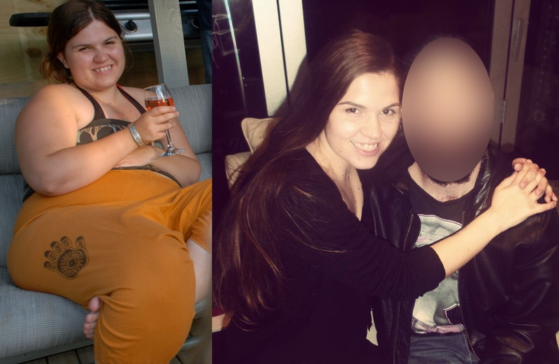 87 lbs Fat Loss Before and After 5 foot 3 Female 221 lbs to 134 lbs