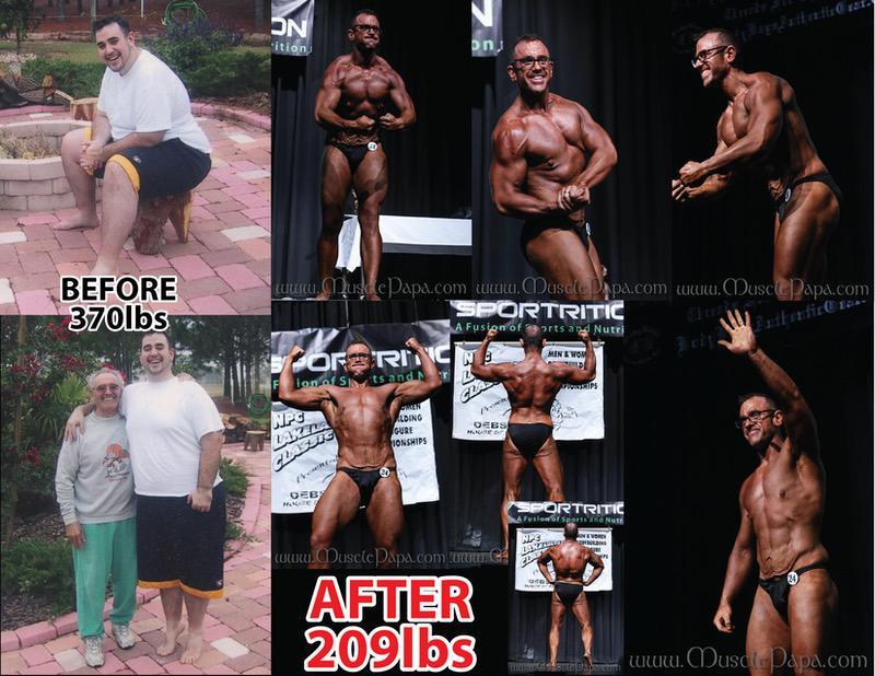 Progress Pics of 161 lbs Weight Loss 6 foot Male 370 lbs to 209 lbs
