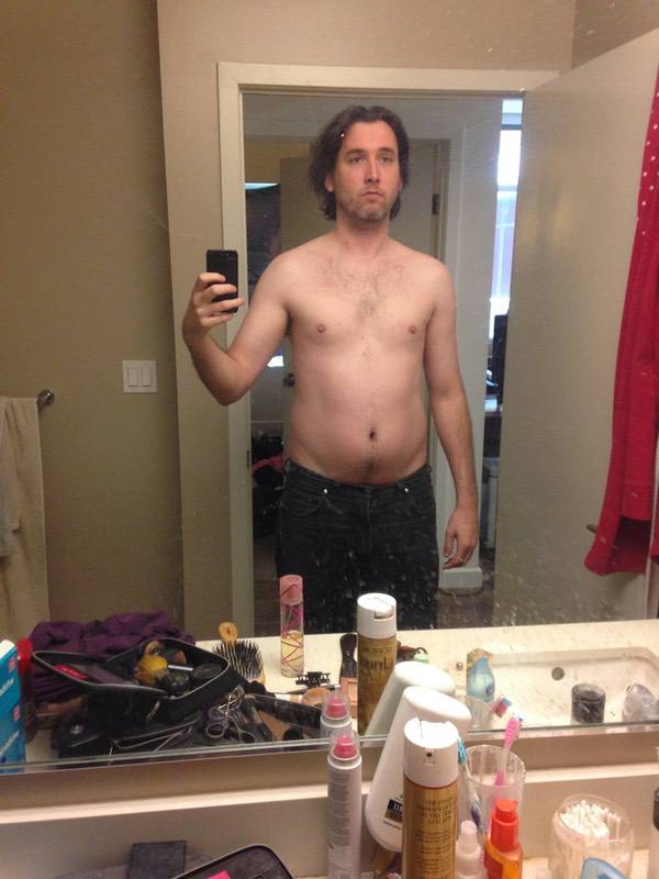 25 lbs Fat Loss Before and After 6 feet 3 Male 205 lbs to 180 lbs