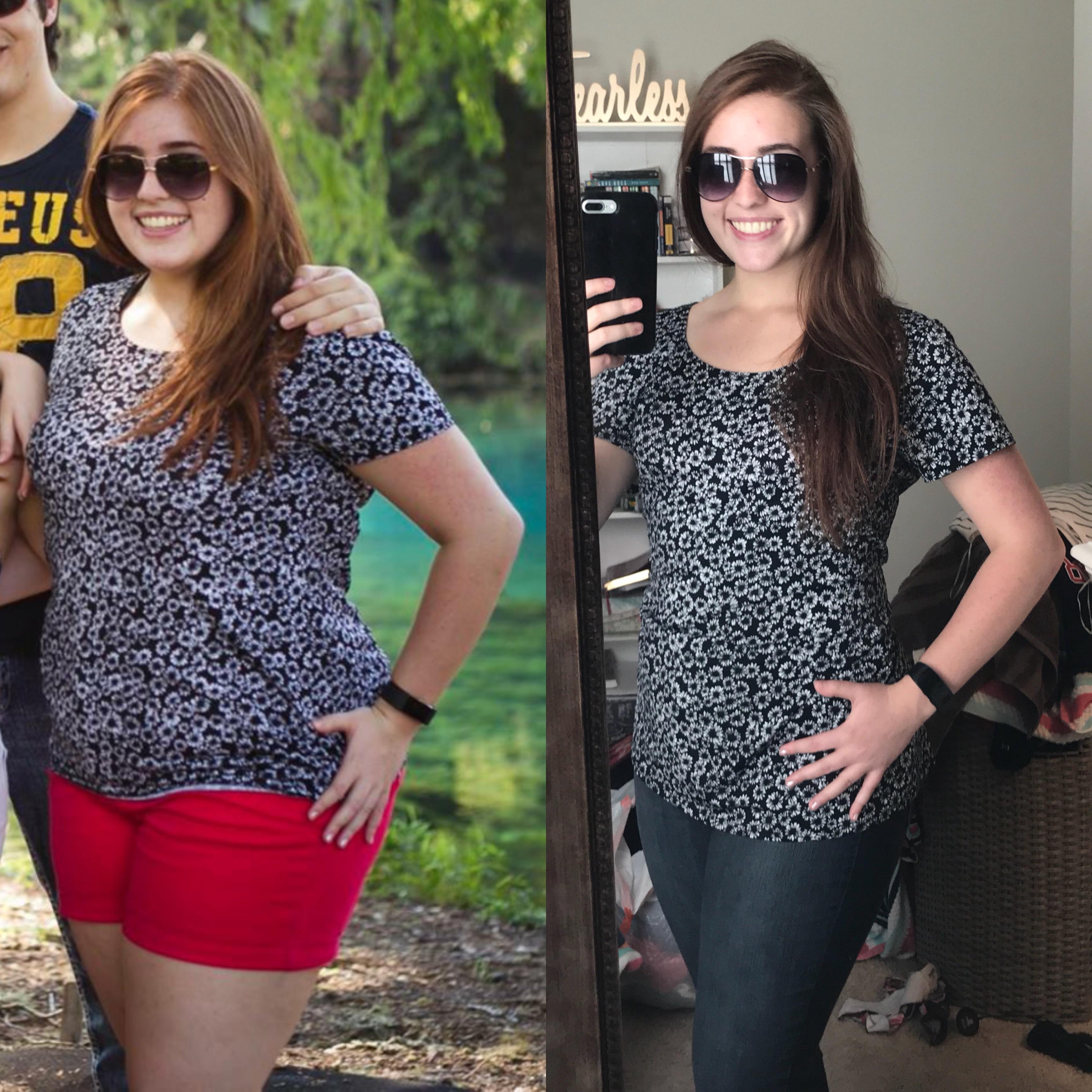 5'5 Female Progress Pics of 50 lbs Fat Loss 215 lbs to 165 lbs