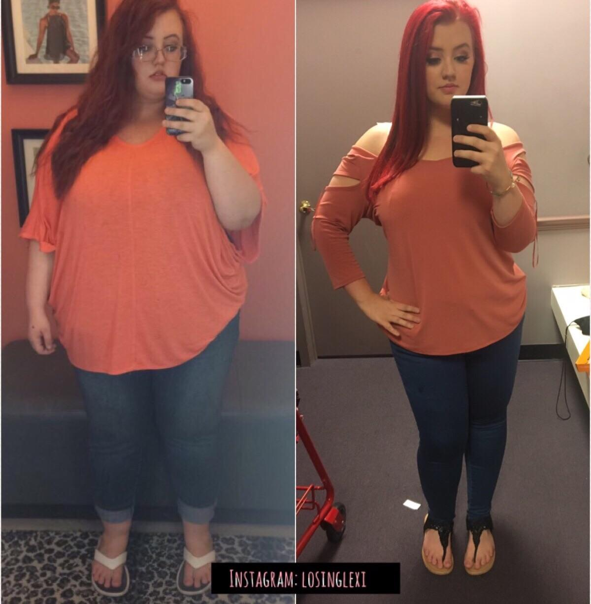 5'4 Female 105 lbs Weight Loss Before and After 305 lbs to 200 lbs