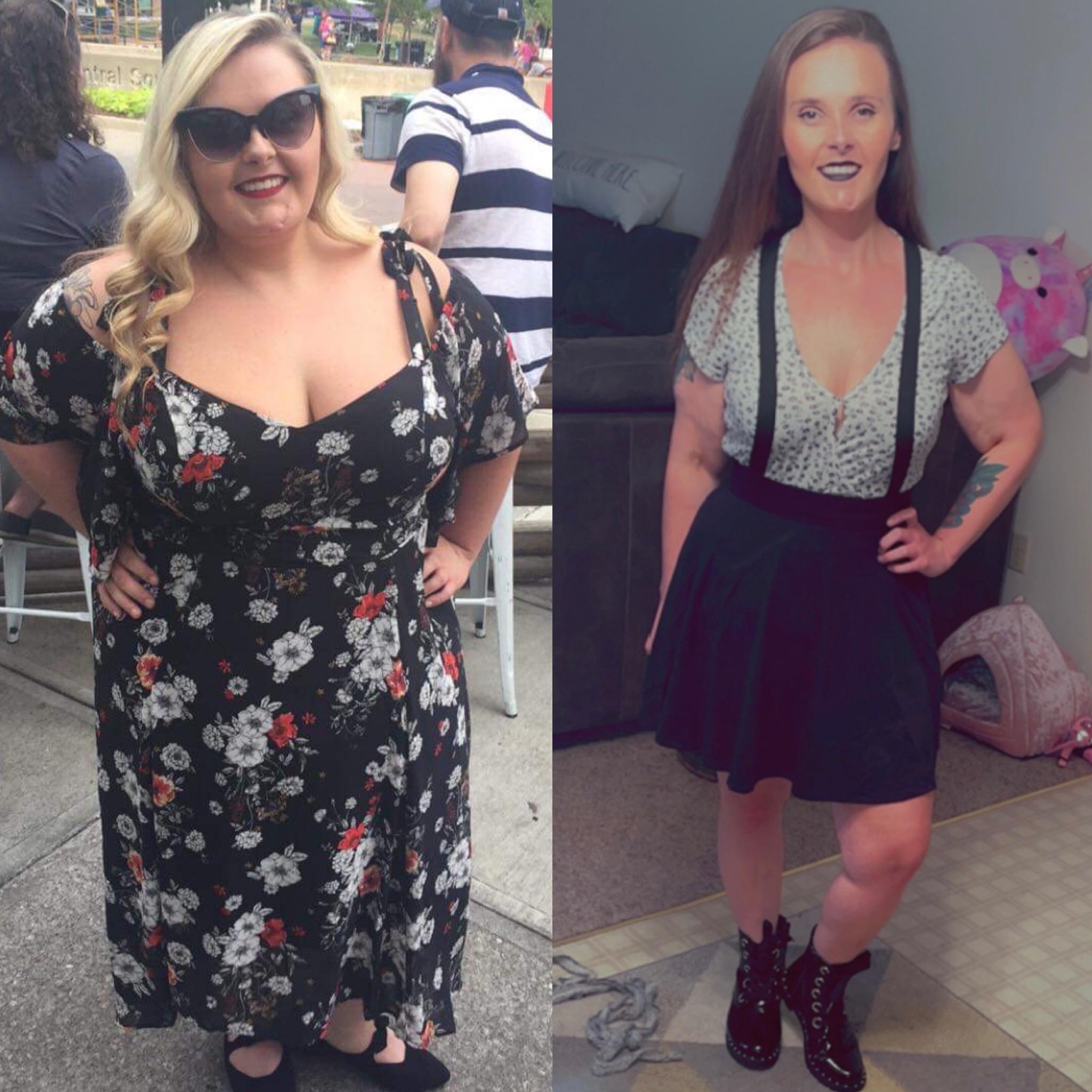 5 foot 2 Female Progress Pics of 145 lbs Fat Loss 280 lbs to 135 lbs