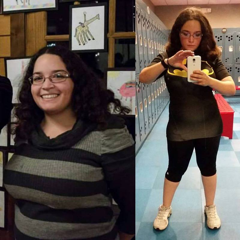 4 foot 11 Female 29 lbs Fat Loss Before and After 173 lbs to 144 lbs