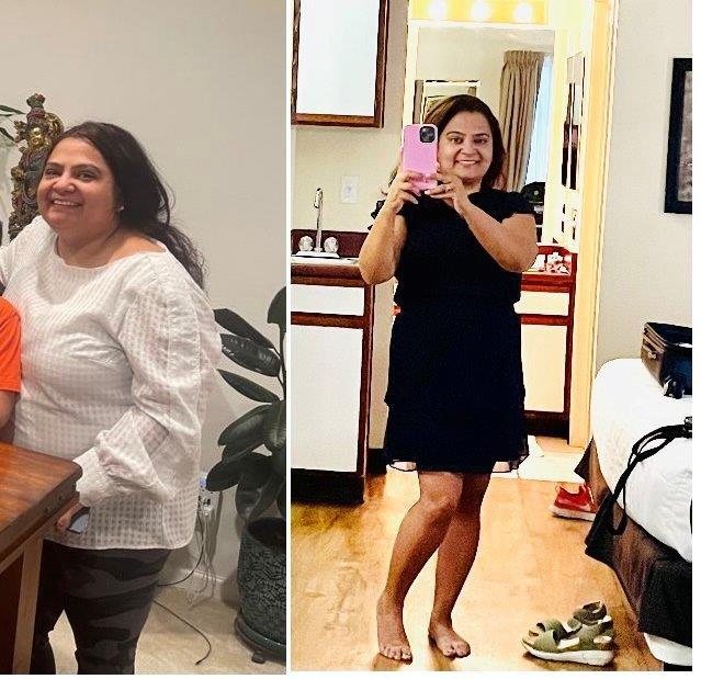 45 lbs Weight Loss Before and After 5 feet 1 Female 189 lbs to 144 lbs