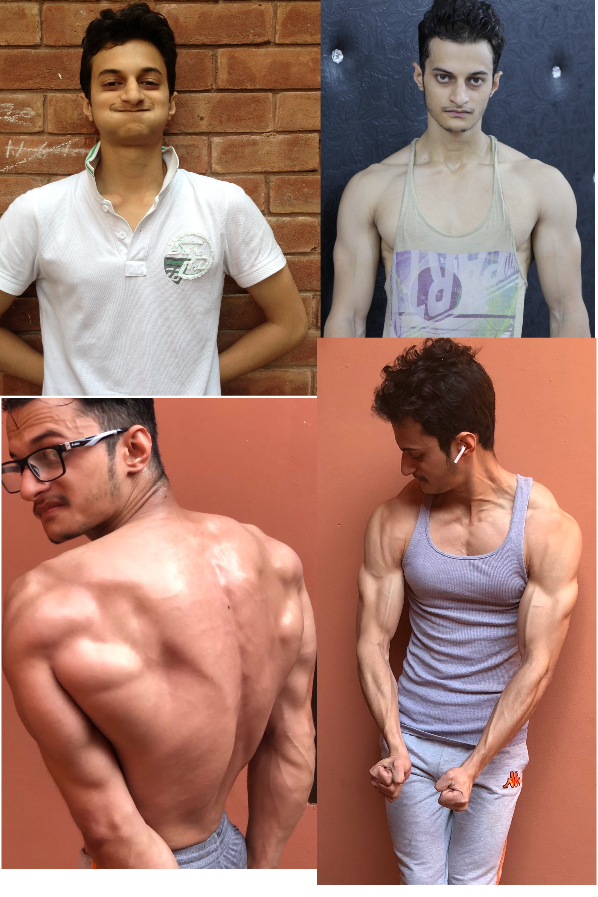 Before and After 42 lbs Weight Gain 5 feet 9 Male 110 lbs to 152 lbs