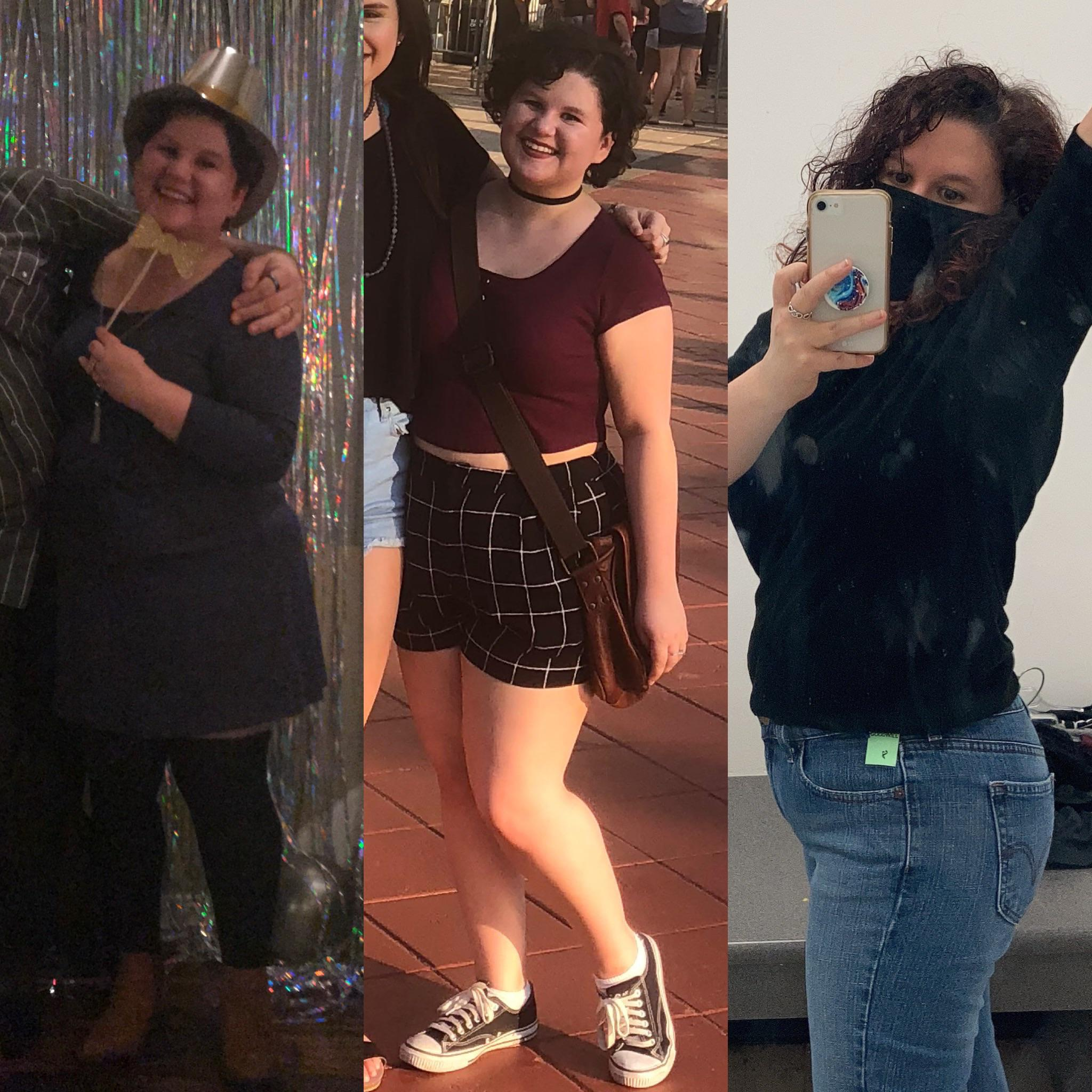 Before and After 39 lbs Weight Loss 4 foot 10 Female 172 lbs to 133 lbs