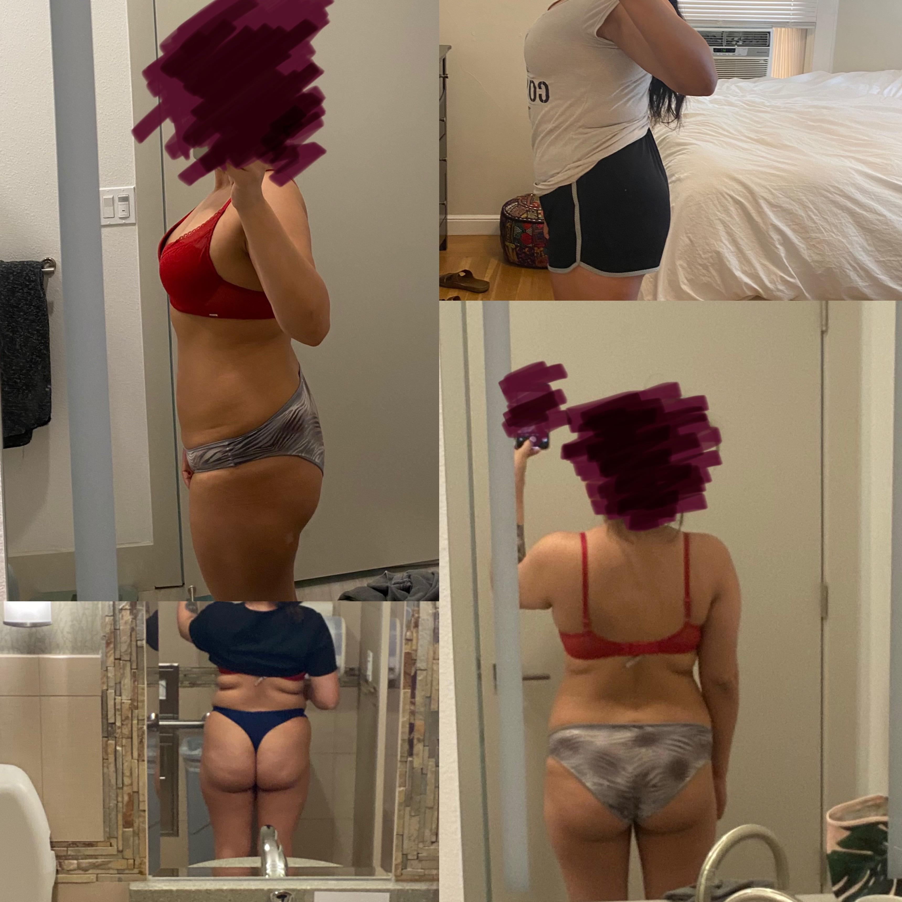 5 feet 3 Female Before and After 13 lbs Weight Loss 167 lbs to 154 lbs