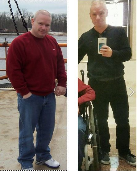 5'2 Male 52 lbs Fat Loss Before and After 207 lbs to 155 lbs