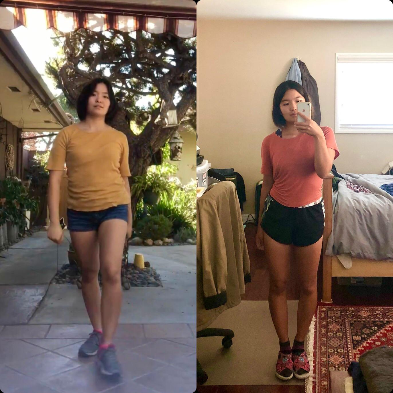 Progress Pics of 10 lbs Fat Loss 5'1 Female 123 lbs to 113 lbs