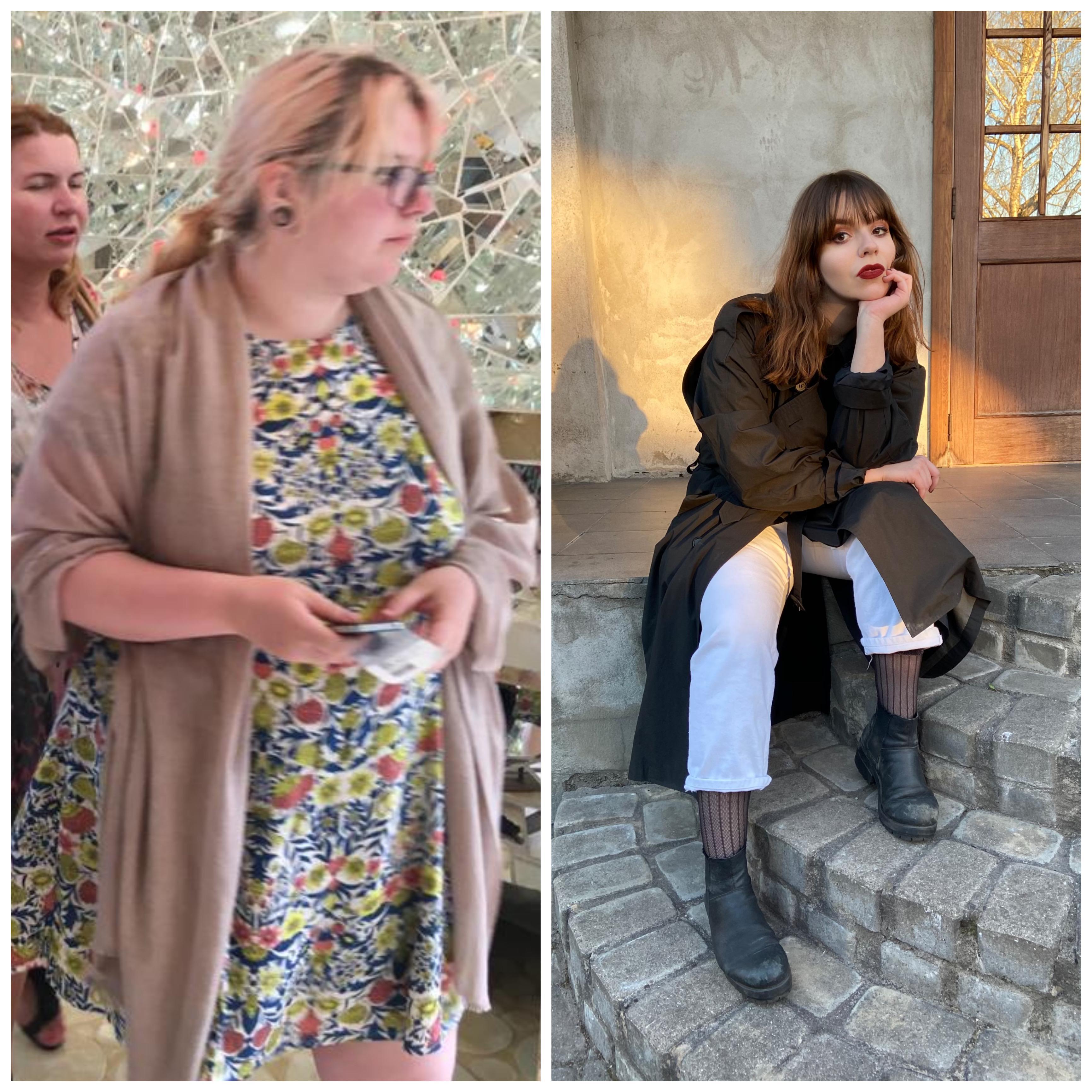 Progress Pics of 71 lbs Weight Loss 5'7 Female 251 lbs to 180 lbs
