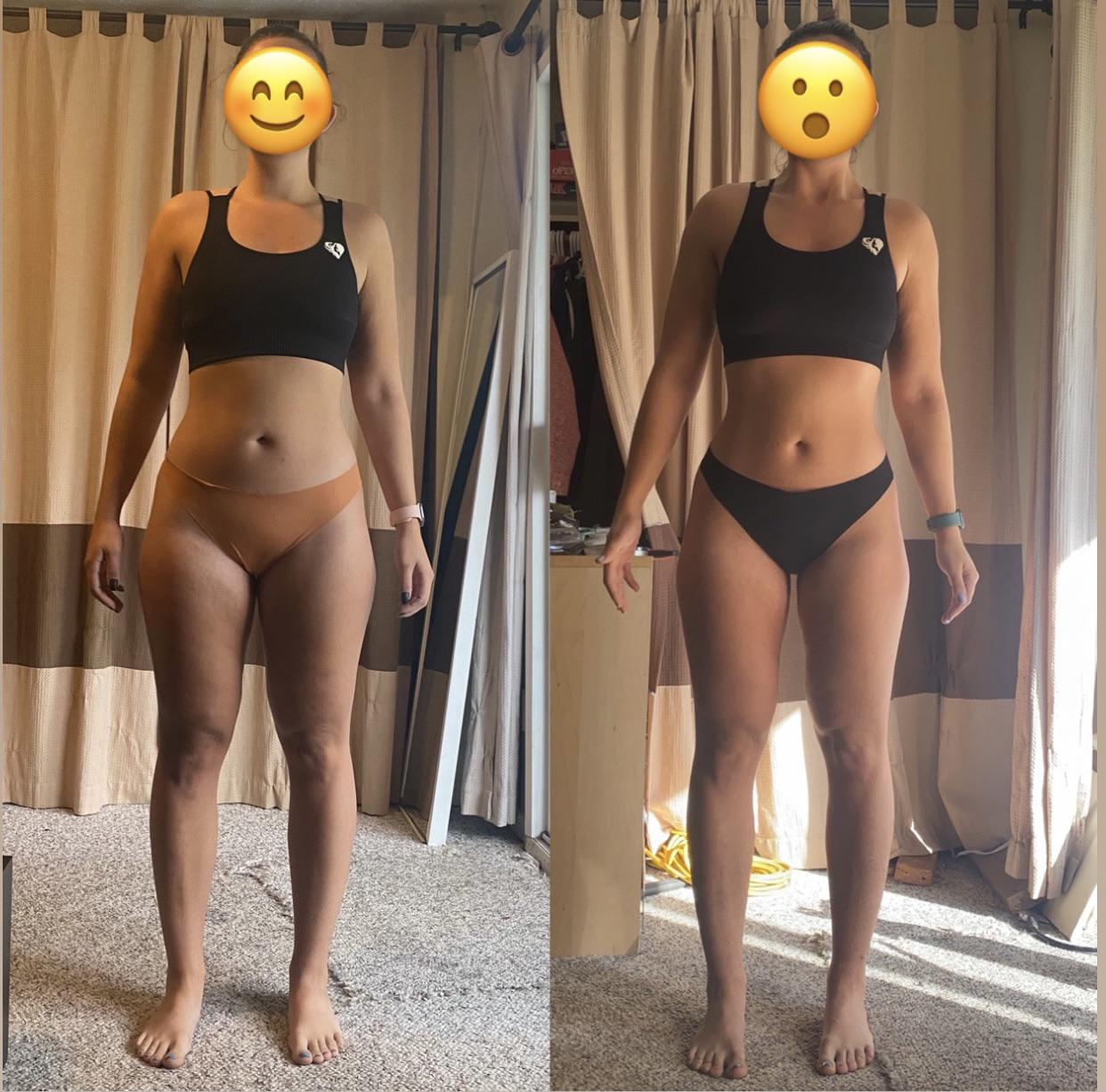 2 lbs Weight Loss Before and After 5 feet 4 Female 150 lbs to 148 lbs